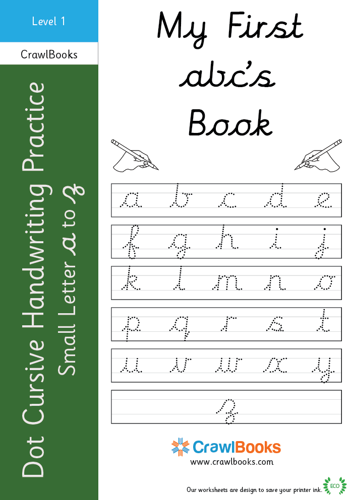 Dot Cursive Handwriting Practice Small Letter A To Z Level 1