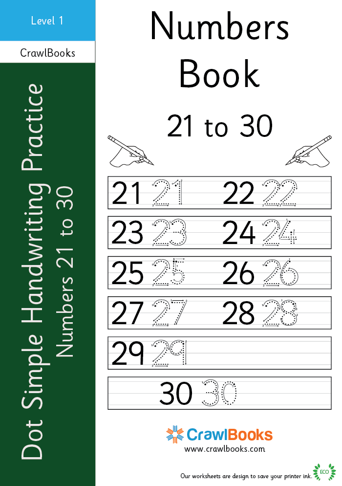 dot simple handwriting practice number 21 to 30 level 1 ebook. Black Bedroom Furniture Sets. Home Design Ideas