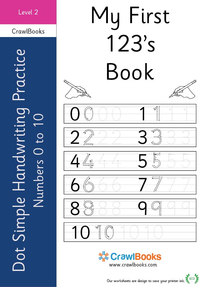 dot simple handwriting practice number 0 to 10 level 2 ebook. Black Bedroom Furniture Sets. Home Design Ideas